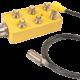 M12 sensor connector with distribution box