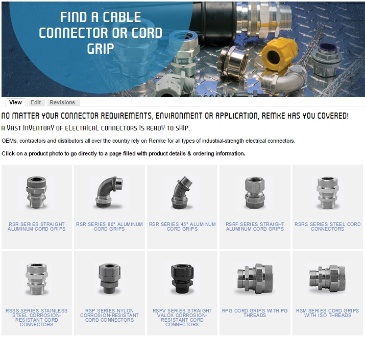 Find Remke Connectors and Cord Grips with this photo guide