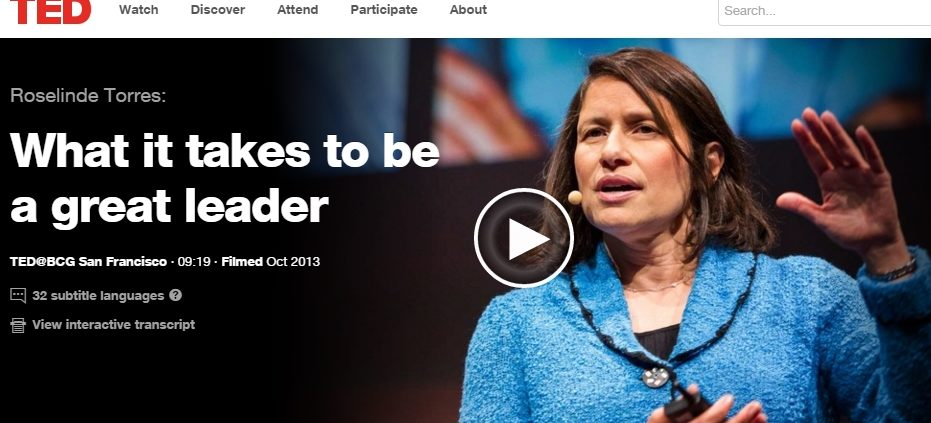 TED Talk Roselinde Torres on Leadership - Remke Blog