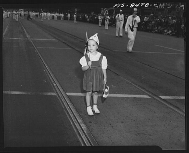 Labor Day Parade Girl in an original parade for american workers - Remke Blog