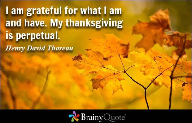 Thanksgiving quote Henry David Thoreau