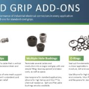 Cord grip add on components improve the performance of standard cord grips and cable connectors - Remke Blog