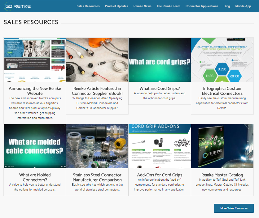 Sales Resources for Electrical Distributors and Reps on the new GO Remke website - Remke Blog