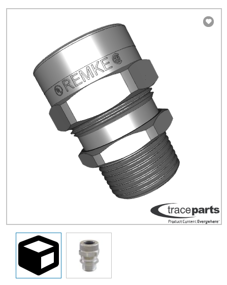 This is an example of a 3D rendered part on Remke.com.