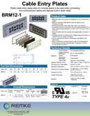 Click here to download the BRM12 Cable Entry Plate Product Information Sheet