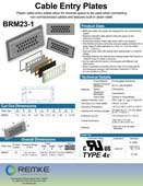 Click here to download the BRM23 Cable Entry Plate Product Information Sheet
