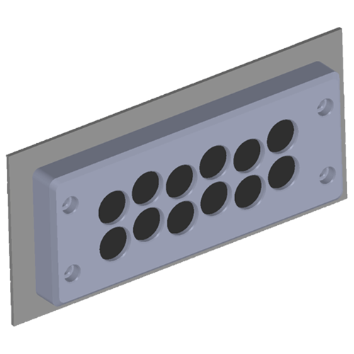The BRM12 Cable Entry Plate - Front View