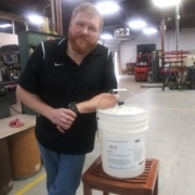 Another one of our Remke Heroes. Graham M., Production Supervisor - the hand sanitizer savior.